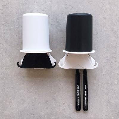 콧수염 양치세트 칫솔걸이 양치컵걸이