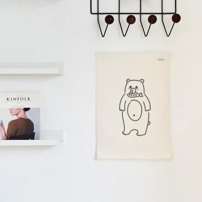 애니멀 드로잉 패브릭 포스터 / 가리개 커튼
