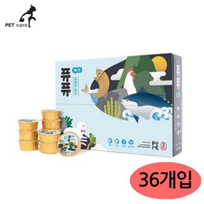 퓨퓨 미니캔 50g (황태와 참치) (36개입) (1박스)