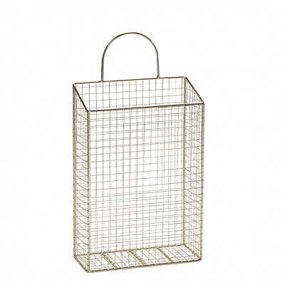 [Hubsch]Magazine holder for wall, metal, gold 949027 잡지홀더