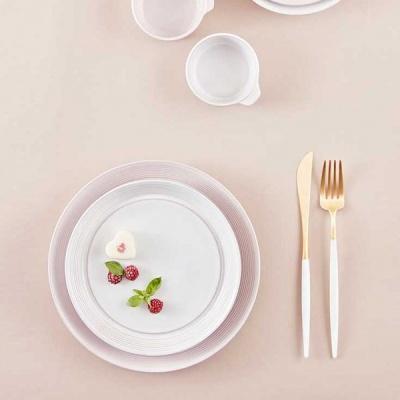 [오덴세] 아틀리에 한정 핑크,화이트 접시 세트 (4P)
