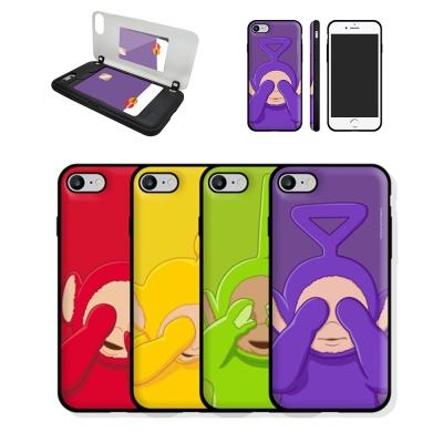 텔레토비 아이폰11 pro max 카드 범퍼 미러 폰 케이스