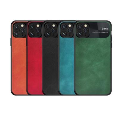 아이폰11 프로 MAX 비지니스 가죽 하드 휴대폰 케이스