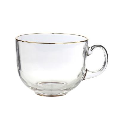 골드 수프컵 씨리얼볼 유리 머그컵