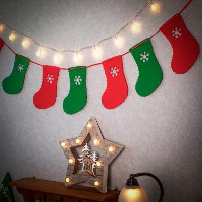 크리스마스 패브릭 가랜드(양말)