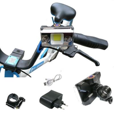 넓은 광폭 COB LED 자전거 라이트 전조등 랜턴 DH10W