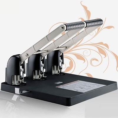 PAOSHEN 편리한 핸들 원점복귀 장치로 1회 150매 천공 능력의 대만 파오쉔 강력 3공 펀치 No.953