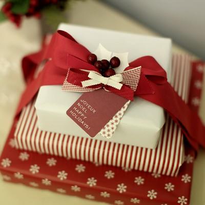 디비디 크리스마스 테그 - Holiday (Red)