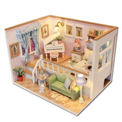 [adico]DIY 미니어처 하우스 - 듀플렉스 하우스