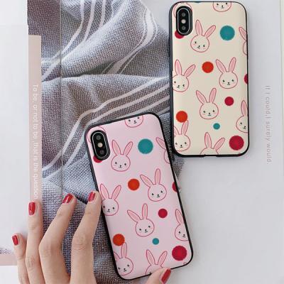 아이폰8 써니 핑크토끼 카드케이스