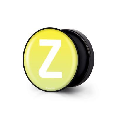 샤론6 블랙 원형 그립톡 이니셜 Z