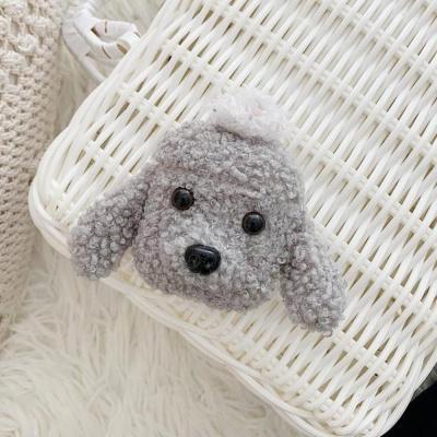 에어팟 1/2 강아지 캐릭터 뜨개질 케이스 303 그레이