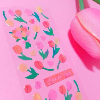 영롱한 Love of Tulip 칼선 스티커