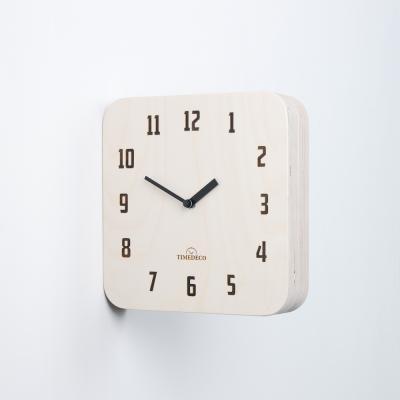 [하이모리] 타임데코 모던 레트로 우드 양면벽시계 내츄럴 [월클락/인테리어소품/벽시계]