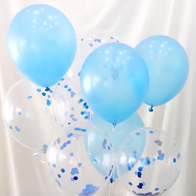 30cm 컨페티 풍선세트 10개입 (블루)