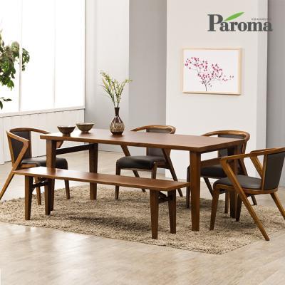 파로마 아벨 애쉬원목 4인용 식탁세트 벤치형 A15