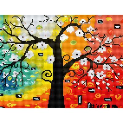 행복나무 (캔버스형) 보석십자수 30x40