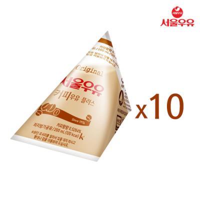 [서울우유] 삼각커피우유 200ml x 10