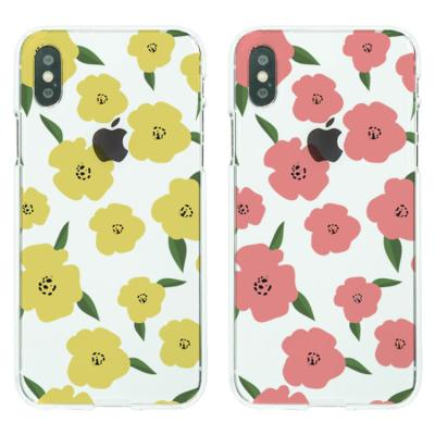 아이폰XS케이스 꽃 패턴 소프트젤리케이스