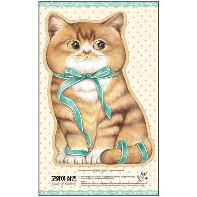 DIY패브릭 - 리본 아기고양이(점보사이즈 )