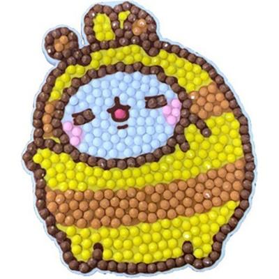 몰랑 꿀벌 (키링) 보석십자수 8.5x9