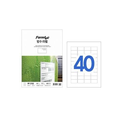폼텍 레이저용 방수라벨/PP-3102