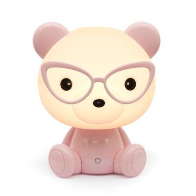 곰돌이 LED 스탠드 [핑크] (USB충전어댑터포함)