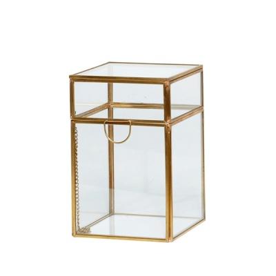 [hubsch]Glass box brass small 유리보관함셋트150206