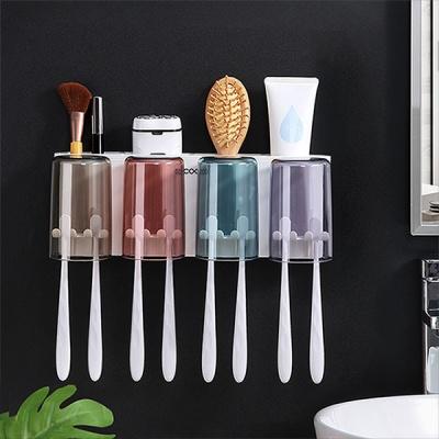 컬러컵 칫솔걸이 양치 욕실수납공간 욕실정리 다용도