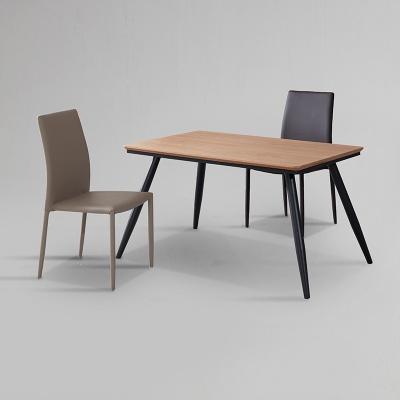 쿠니 무늬목 식탁 세트A 1200 + 의자 2개포함 (착불)