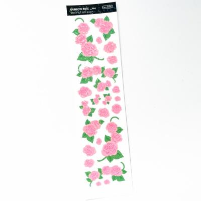 푸푸남 레인보우 로즈 핑크 씰스티커
