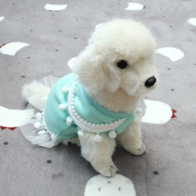[펫딘]방울 공주 망사 스커트 강아지옷 원피스