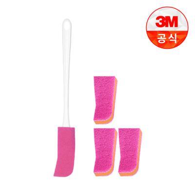 [3M]플라스틱병용 보틀 수세미(핸들 1입+리필 1입)+리필 1입 3개