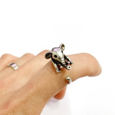 [실버문] 나의 행운의 코끼리 반지 길이조절가능