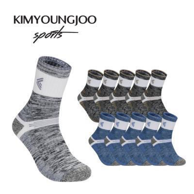 5팩 KYJ 레귤러 하이쿠션 퍼포먼스 남성 골프양말