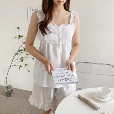 White Lace Pajama Set