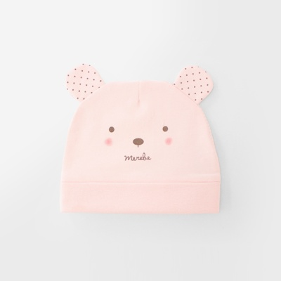 [메르베] 곰돌이W 신생아 아기 모자_사계절용
