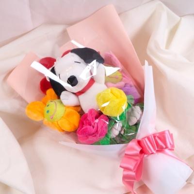 스누피 인형 꽃다발 스마일꽃인형 졸업식 재롱잔치