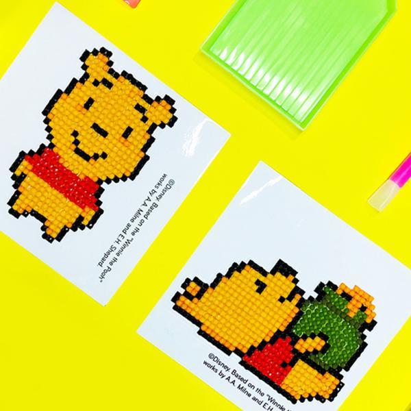 DIY 위니 더 푸우 어린이 보석십자수 스티커형 디즈니 아이러브페인팅