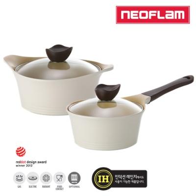 네오플램 애니 IH 크림 냄비 2종 (편수18+양수20)