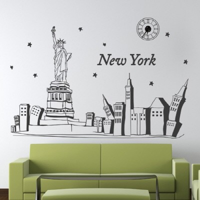 ij133-뉴욕 도시의 밤_그래픽시계(중형)