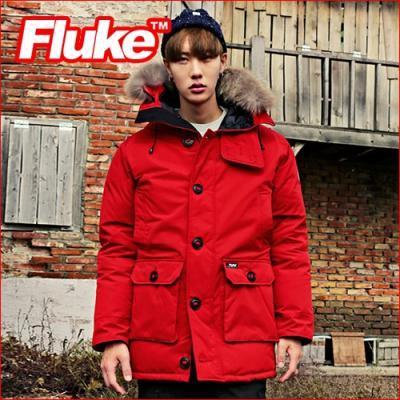 [플루크 패딩] 알레스카 리얼라쿤 다운야상 패딩 점퍼 레드 FPJ1508-RED FLUKE 15FW