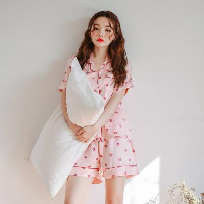[쿠비카]스트로베리 DTY 투피스 커플잠옷 WM174