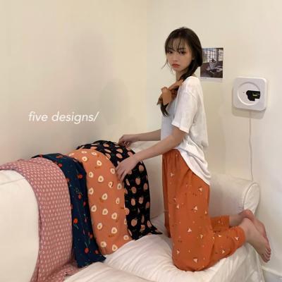 여성 홈웨어 잠옷 세트 파자마 모모 키치 포인트 팬츠