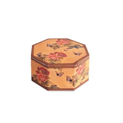 [인디고샵]  전통민화 나비 팔각상자 소  (2개)