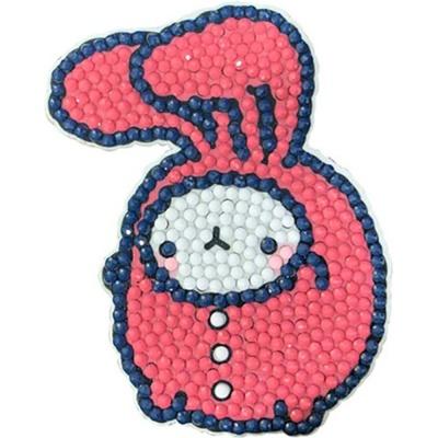 몰랑 핑크토끼 (키링) 보석십자수 7x9