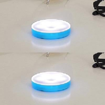 아이린 충전식 터치 무드등 블루,화이트 불빛,2P