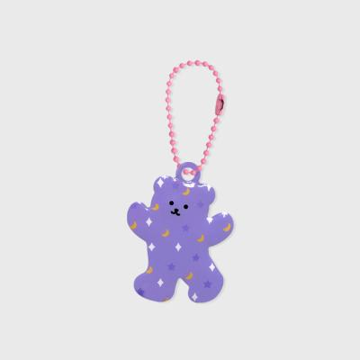 Music bear-purple(PVC키링)