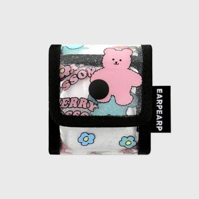Blossom bear friends-black(PVC Air pods)