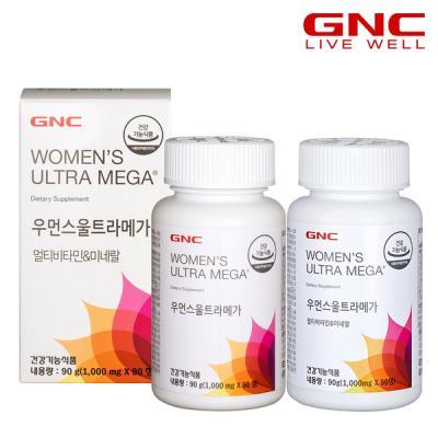[GNC]우먼스울트라메가 멀티비타민앤미네랄(90정)x2병